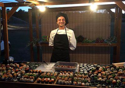 Cocinero sushi