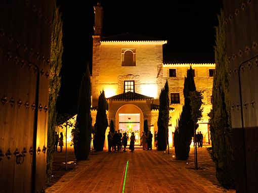 Patio iluminado hotel convento la magdalena