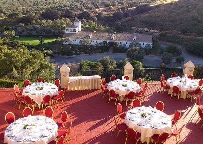 Mesas en terraza