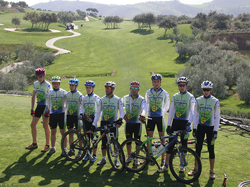 Ciclistas en eventos deportivos