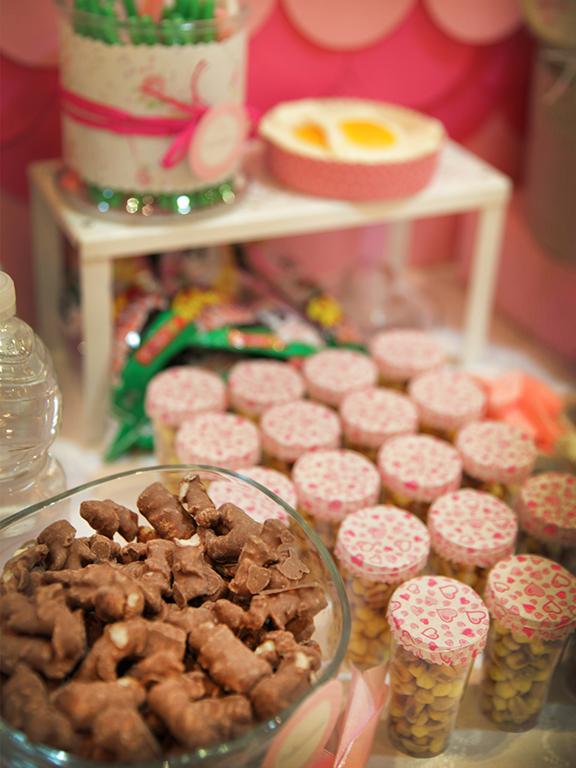 dulces rosa para comunión
